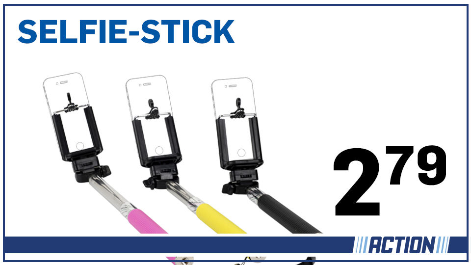 action nederland on twitter jaaa hij is er weer de selfie stick nu nog voordeliger 2 79. Black Bedroom Furniture Sets. Home Design Ideas