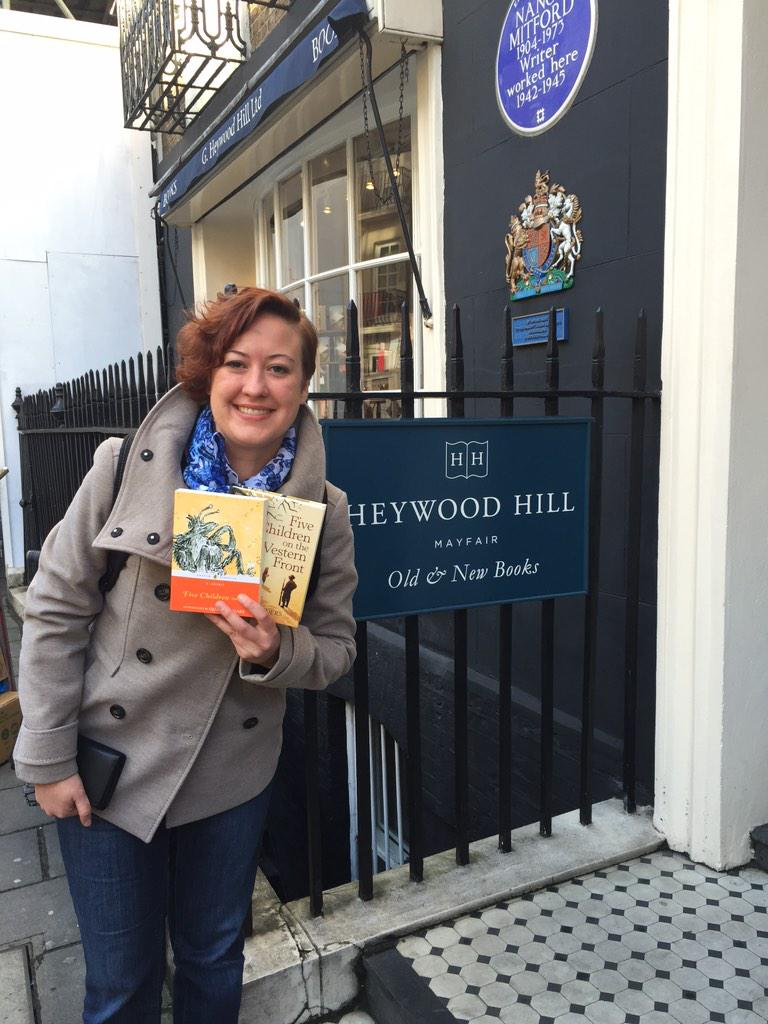 Got a lovely talk about childrens books @HeywoodHill. And immediately broke my one-book-rule http://t.co/1FSstVpbvM