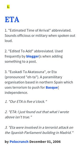Eta urban dictionary