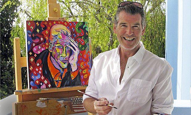 Image result for Pierce Brosnan painting
