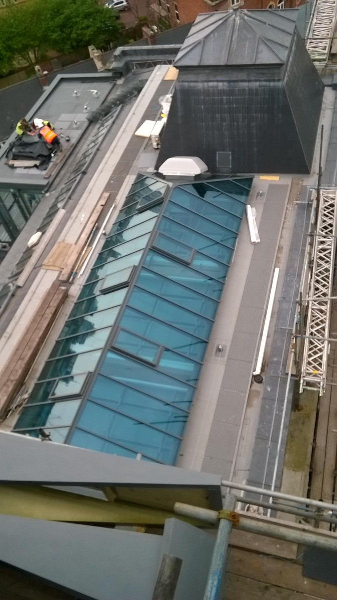 M r s wales ltd on twitter two large hipped roof lights installed at the alex project in swansea http t co ikpdrohch5