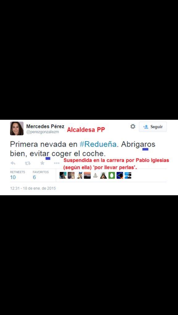 """Quizá Pablo Iglesias la suspendió por las """"perlas"""" ortográficas. http://t.co/4hmPWs7ELd"""