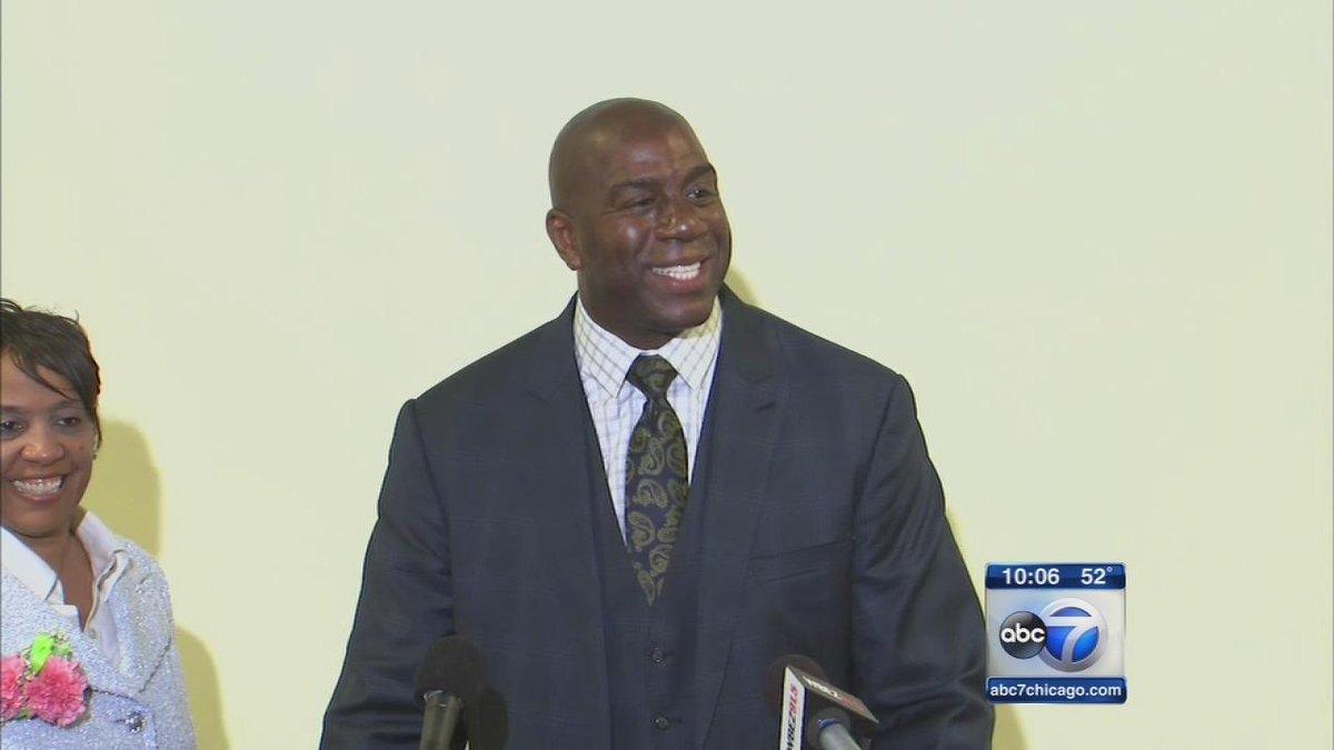 """@ABC7Chicago: Magic Johnson to invest $10 million in summer job program for Chicago youth http://t.co/JtEiwHY9HO http://t.co/RKZbgur7Kx"""