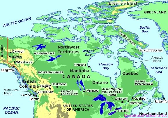 Canada Map Map Of Canada Map Of Lakes In Canada