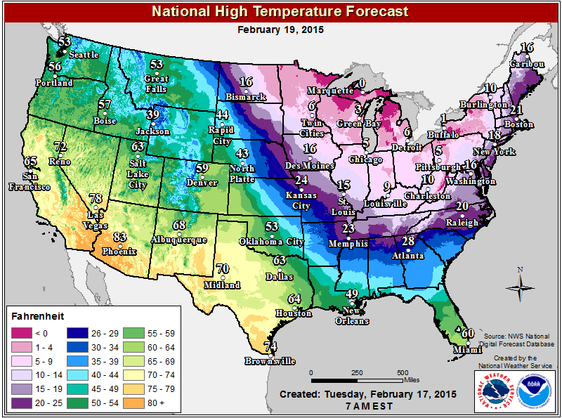 Winter Weather Forecast Old Farmers Almanac Weather - Us weather forecast map
