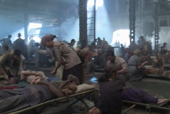 mockingjay district 8 hospital scene from meet