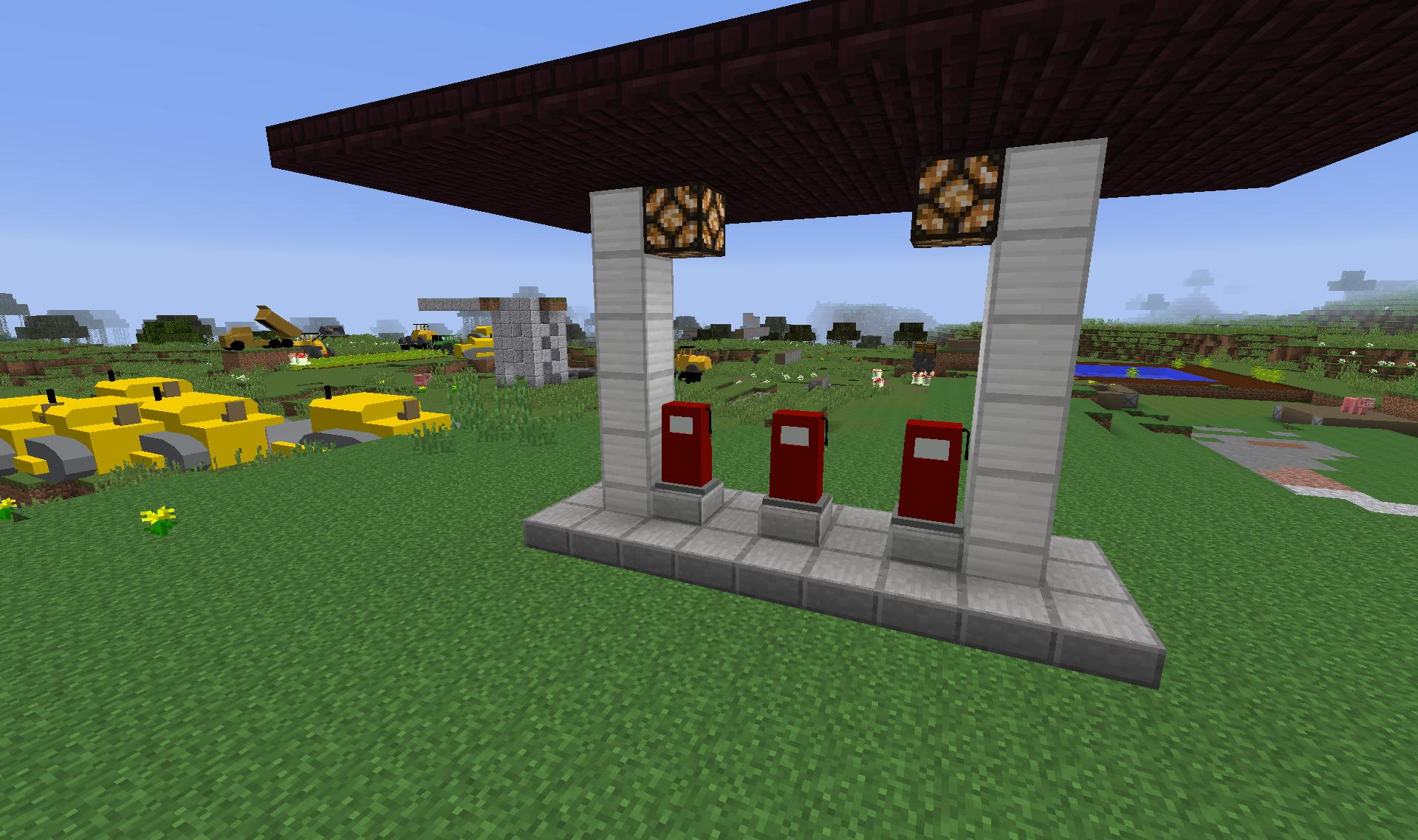 Minecraft gas station mods