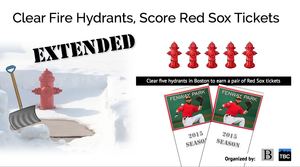 nice job by @RedSox and @OnlyInBos ~> shovel hydrants for tix http://t.co/dNhnNLHtW9 #sportsbiz http://t.co/XWN0kVTmgR