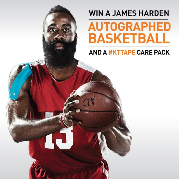Win a @JHarden13 autographed basketball AND a #kttape pack. Details on the blog: http://t.co/sXGrJLFwJW http://t.co/KXtpn0jNHX
