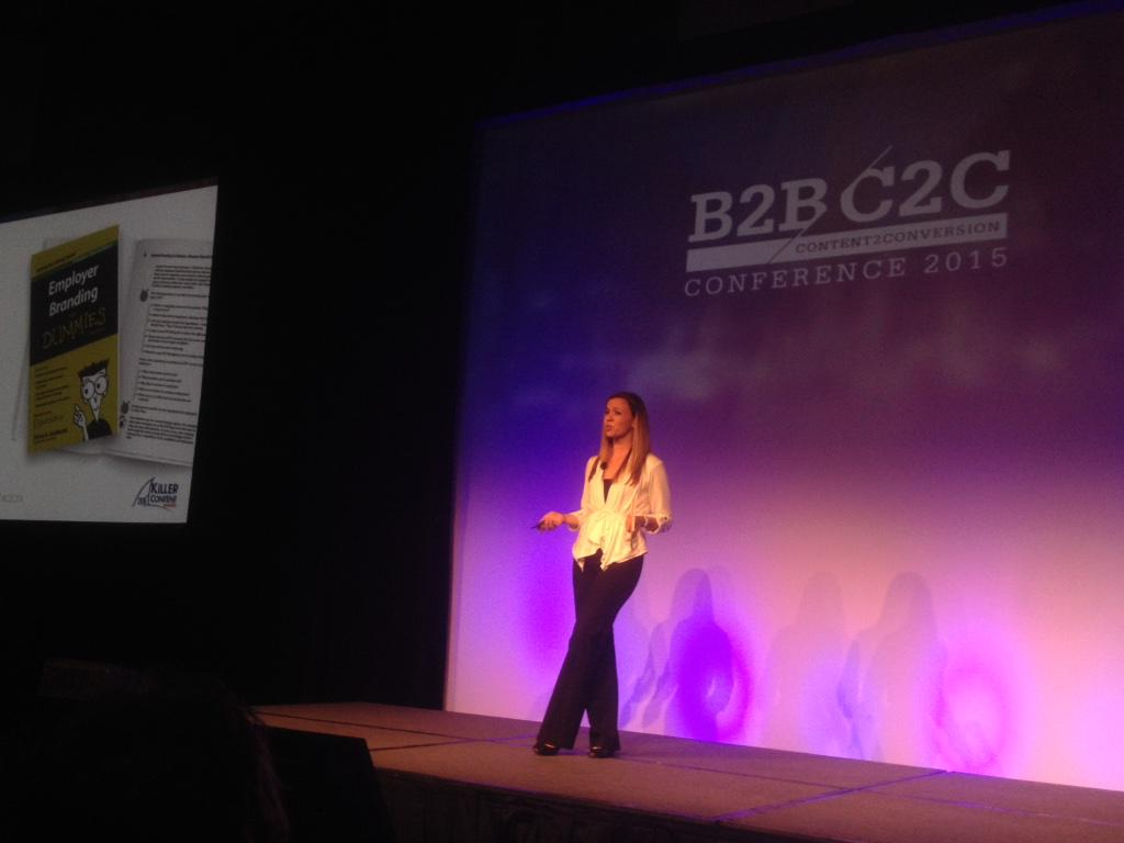 Our @albagaribaldi accepts #C2C15 Killer Content Award for Employer Branding for Dummies #Glassdoor @GDforEmployers http://t.co/WBxKuYS6GK