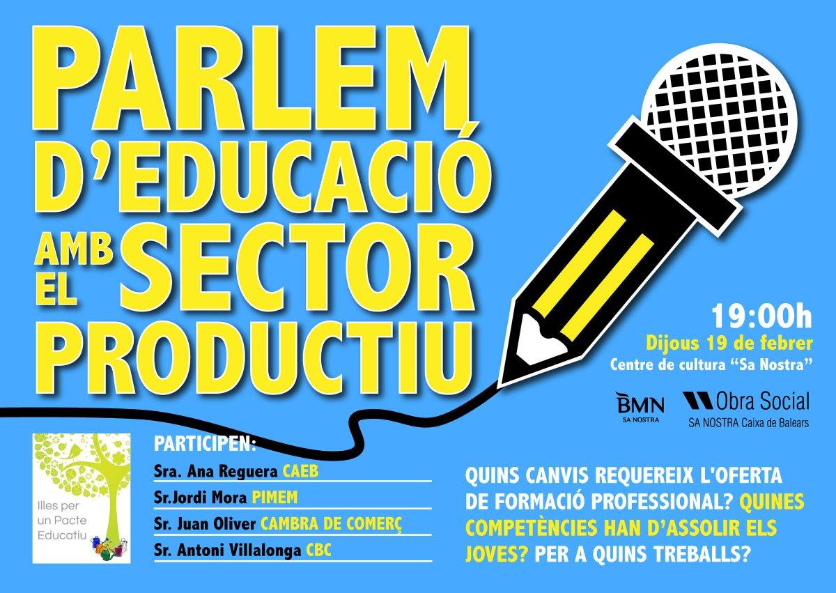 Thumbnail for Parlem d´Educació amb el sector productiu