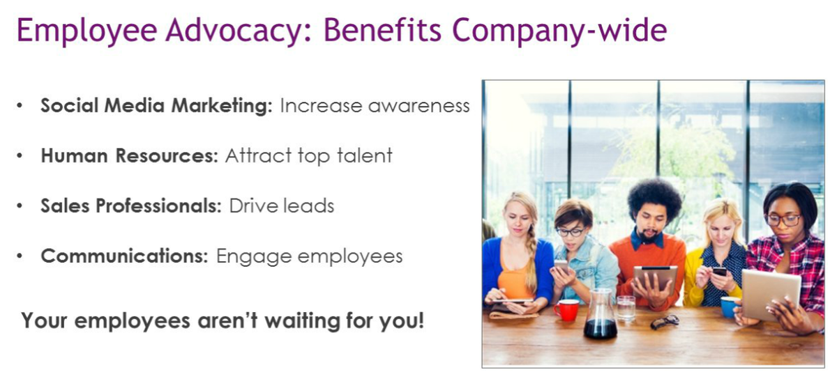 .@PaveyPurewal Too true! Employee advocacy = company-wide benefits — @GregShove #SMTLive http://t.co/4TSShR80KQ