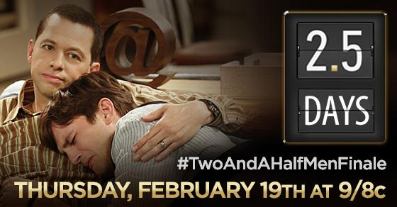 After 12 seasons and 263 episodes, the #TwoAndAHalfMenFinale is just 2.5 days away. http://t.co/xYCaL4cZl5 http://t.co/MycPCAVlhe