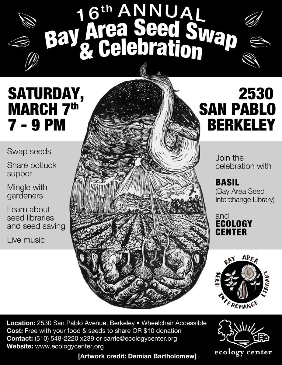 Seed Swap & Celebration. @ Berkeley | California | United States