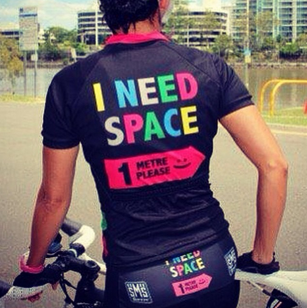 Great to see @SANTINI_SMS promoting space for cyclists worldwide, for safety's sake! #ametrematters #cycling http://t.co/TkJxudM6bL