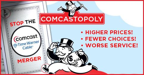 Higher prices. Fewer choices. Worse service. SIGN & RT to #StopComcastTWC merger:  http://t.co/Jx8afefQpy http://t.co/uBRBsY7hwA