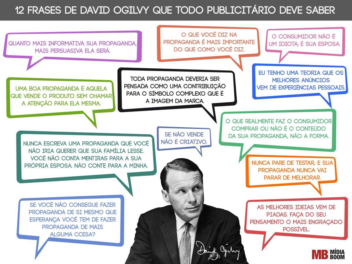 12 frases de David Ogilvy que todo publicitário deve (ou deveria) saber. http://t.co/hs9W7ktcD9