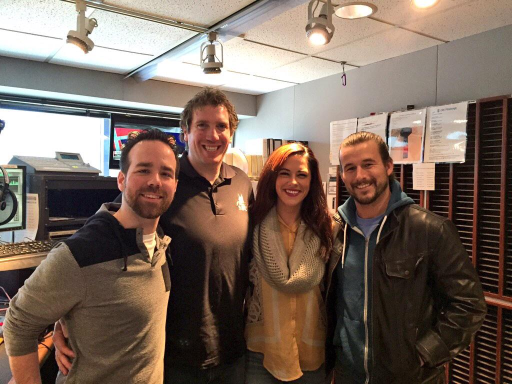 Is that @AdamColePro from @ringofhonor in for #WhatWeLearnedOnTwitter? Thanks to @SDCRemodeling for bringing him in! http://t.co/6EPGz5Hm6S