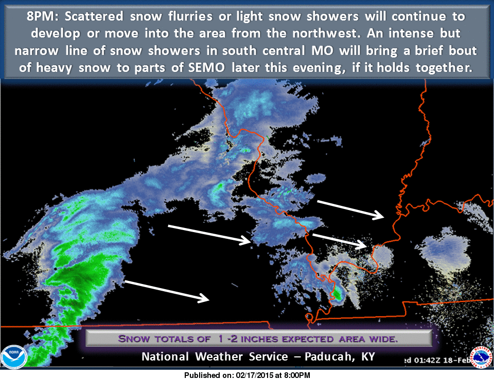 Nws Paducah On Twitter 8pm Snow Flurrieslight Snow Showers