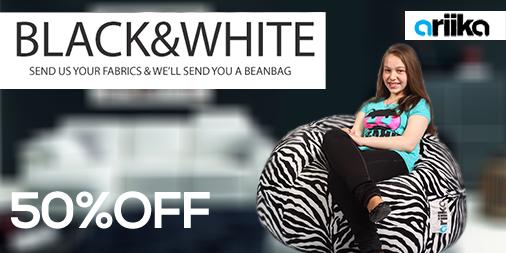Elegant black & white! 50% off. Order your bean bag now! http://t.co/d2Bj82ax1G  #Ariika #BeanBags #Comfort #Quality http://t.co/kDef2mMqkA