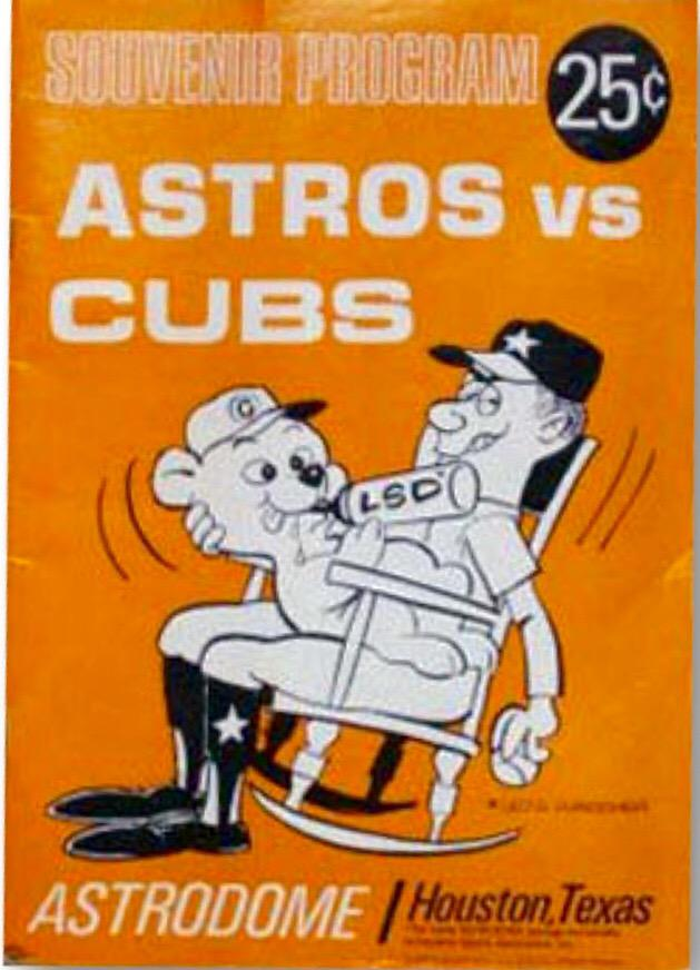 I want this framed RT @uniformcritic: There are no words for this mid 60s Astros program. http://t.co/AdbIRta0vB