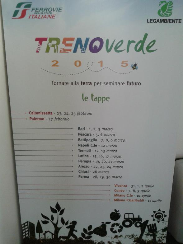 Inizia ora la visita a bordo di #Trenoverde a #Roma Termini: http://t.co/jeygZhvM8i