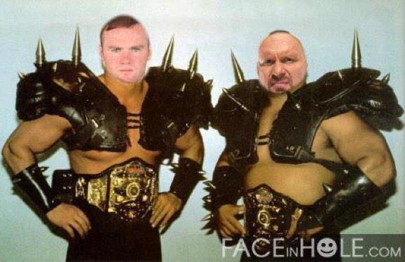 Some very funny @WWE talk going on!!! @WadeBarrett @WayneRooney @steveaustinBSR fancy our chances Wade!!! http://t.co/3AwJtE3DXG