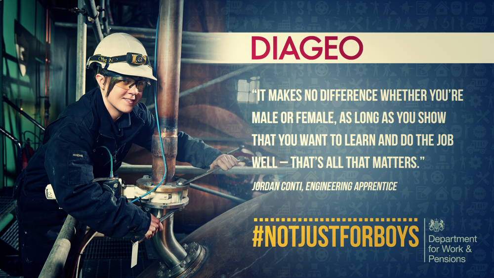 One of our engineering apprentices Jordan Conti supporting @DWPgovuk #NotJustForBoys http://t.co/sn1yhxVBVS