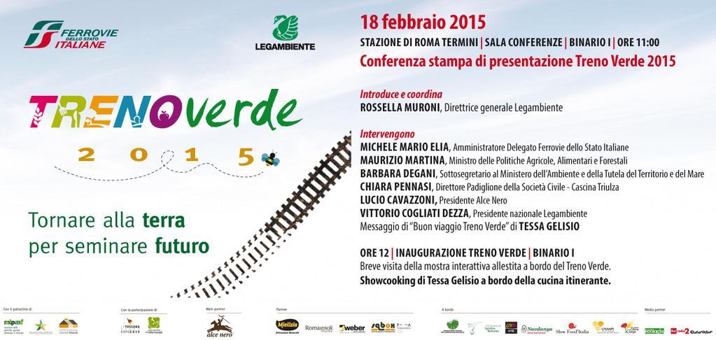 Buon viaggio al @TrenoVerde di @Legambiente: verso #Expo2015 per un' #agricoltura che tuteli la #biodiversità http://t.co/pxUjghE2B9
