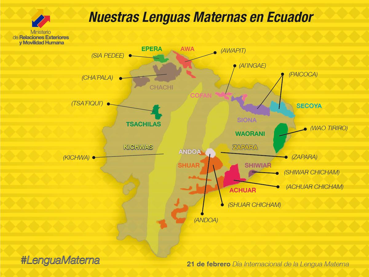 Cancillería Ecuador On Twitter Lenguamaterna El Ecuador Cuenta Con 14 Lenguas Maternas Ecuador Mamallaktaka 14 Mamanshimikunatami Charin Http T Co Dutsnhfvzw