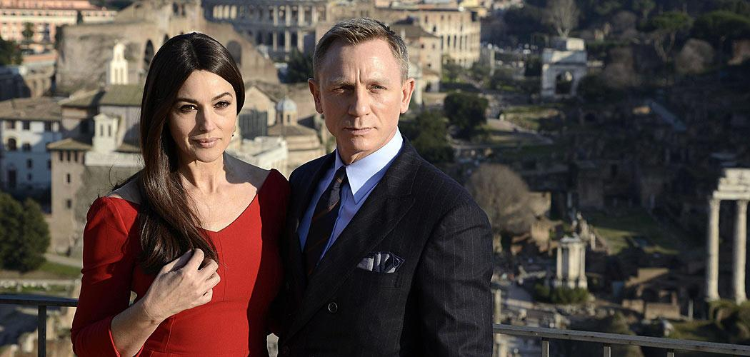 "Daniel Craig alias James Bond a Roma per il film ""Spectre"""