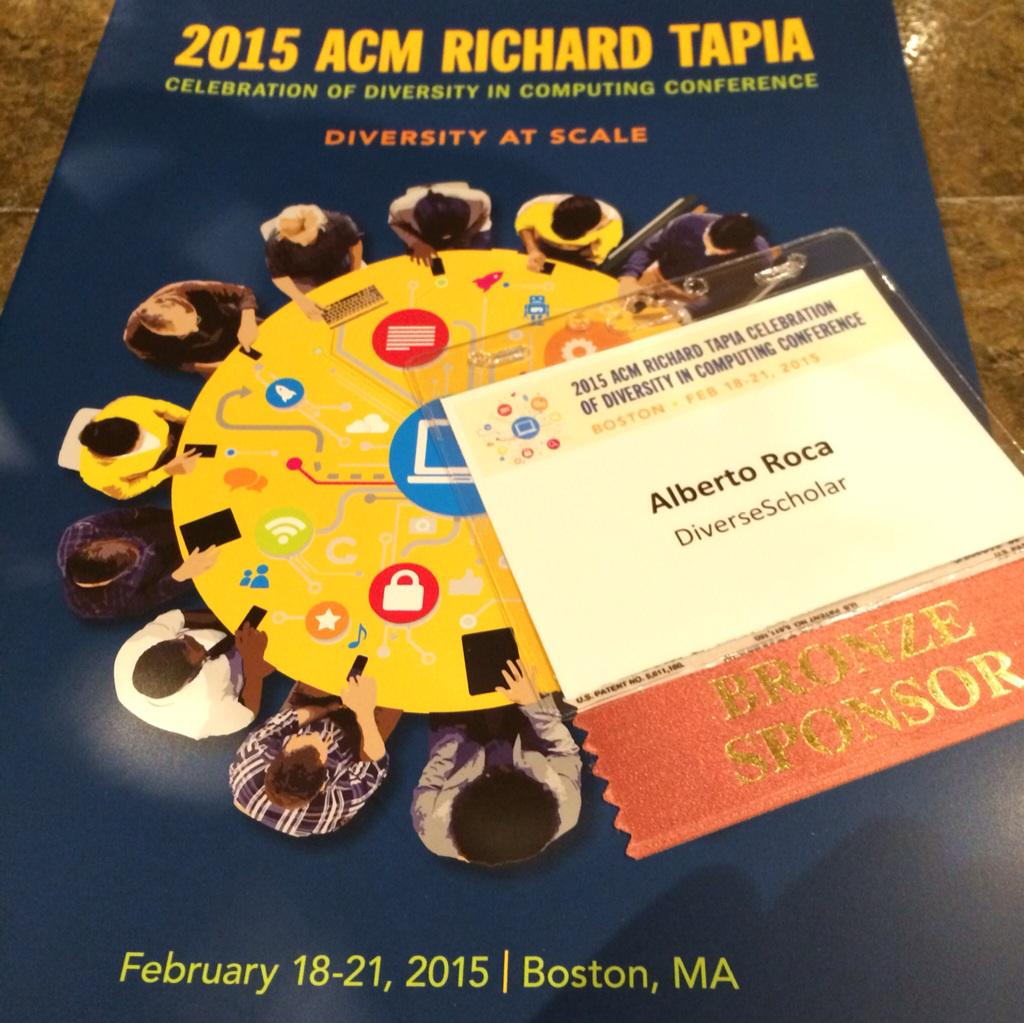 Proud Sponsor of @Tapia_con #Tapia2015 conference! supporting tech & computer science #diversity. Visit our booth http://t.co/oZzDjXYeYb