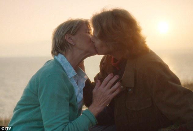 Lesbians Kissing Old Woman