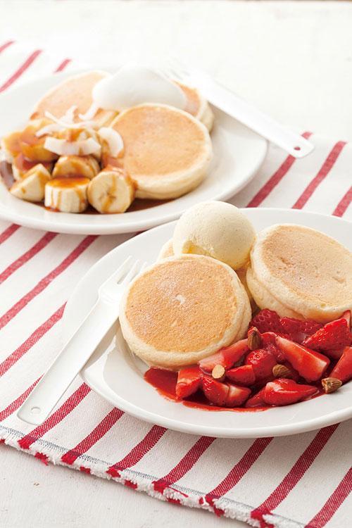 キハチ カフェの期間限定「リコッタチーズのパンケーキ」 - 苺&バナナを贅沢に使用 - fashion-press.net/news/15410 pic.twitter.com/cjedIRx7z6