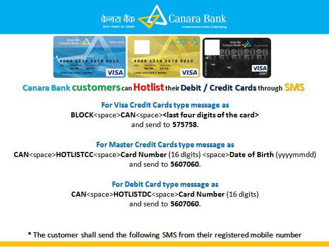 canara bank credit card statement login