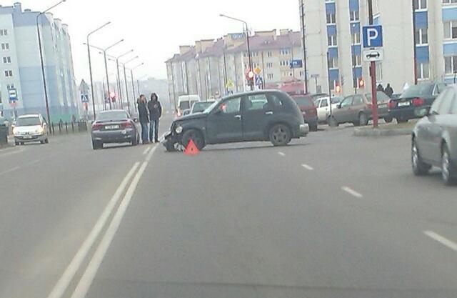 В объектив камеры попало ДТП на ул. Колесника