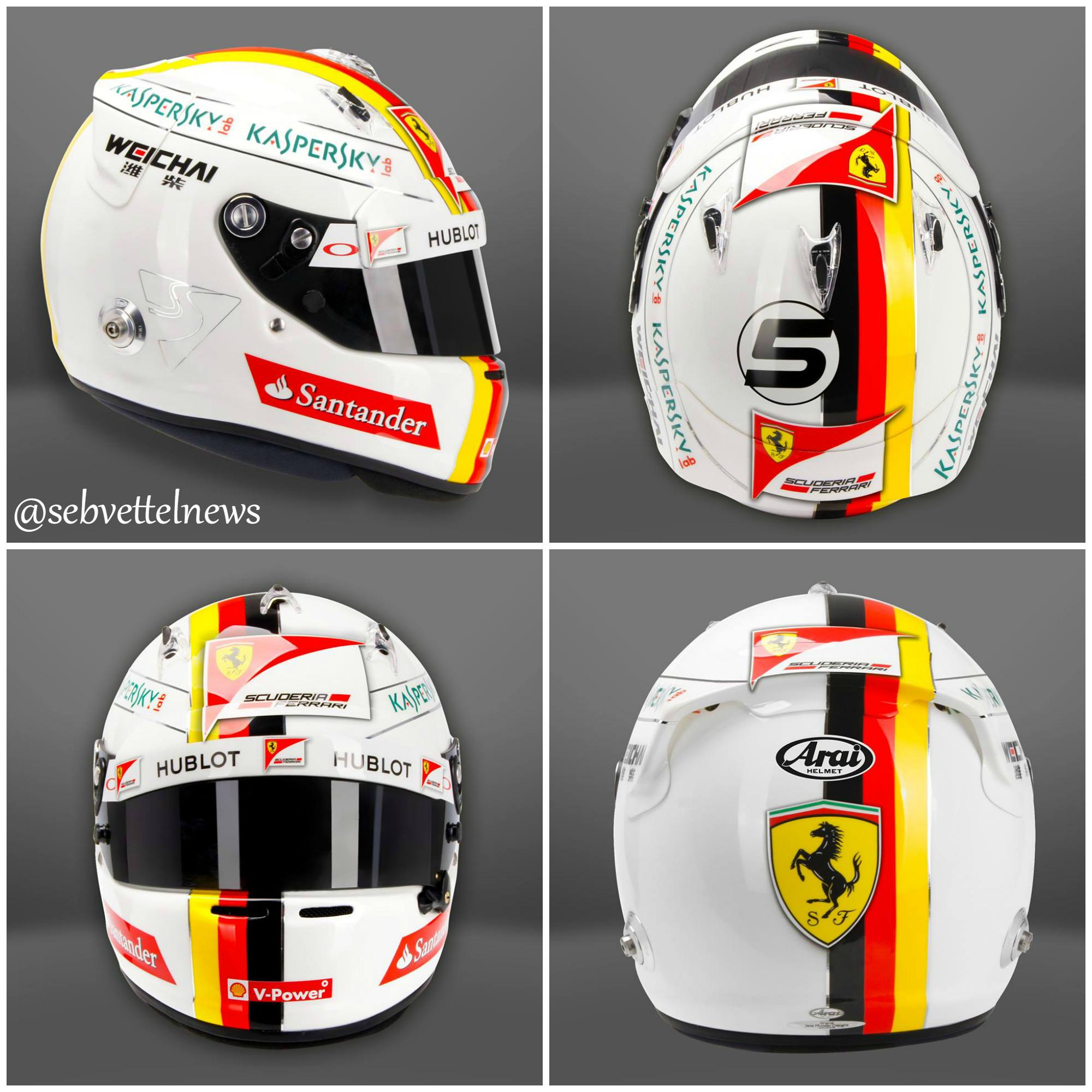 Sebastian vettel 5 on twitter sebastian vettel 39 s 2015 for Helm design