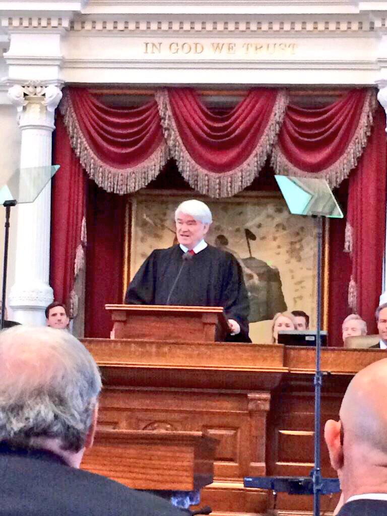 MT @SupremeCourt_TX: #SCOTX CJ @NathanLHecht's #StateOfTheJudiciary Address: http://t.co/5wrhPFTBZz http://t.co/3E3mjoO6gQ