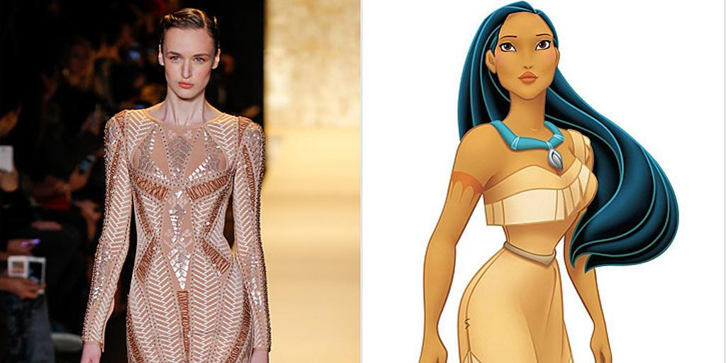 Yeah, we'd totally put Pocahontas in this @HerveLeger dress: http://t.co/Whjs5DF95Z http://t.co/SuFQ5Pps7U