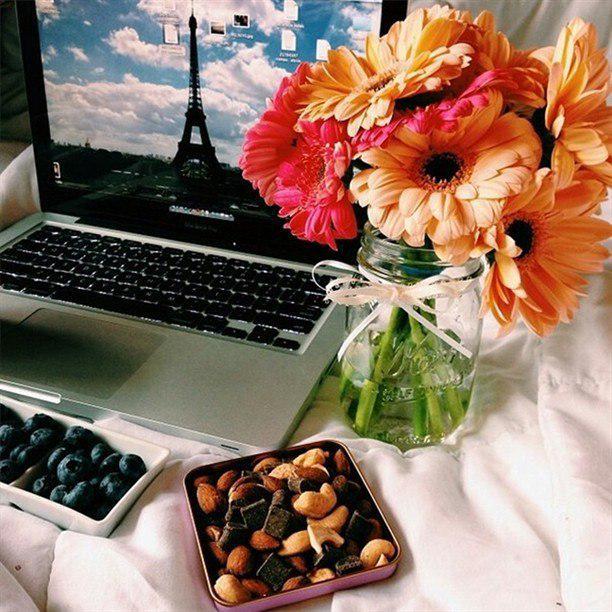 Картинки кофе и цветы ноутбук, губы
