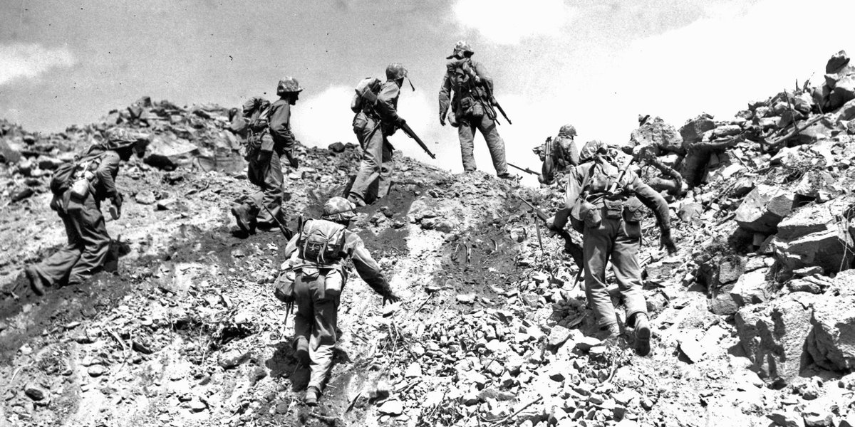 70 years ago today #Marines stormed the black sands of Iwo Jima.  Watch ceremony live in 30  http://t.co/vOugYJvLWr
