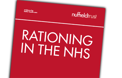 Thumbnail for Rationing in healthcare: Is a postcode lottery justified?