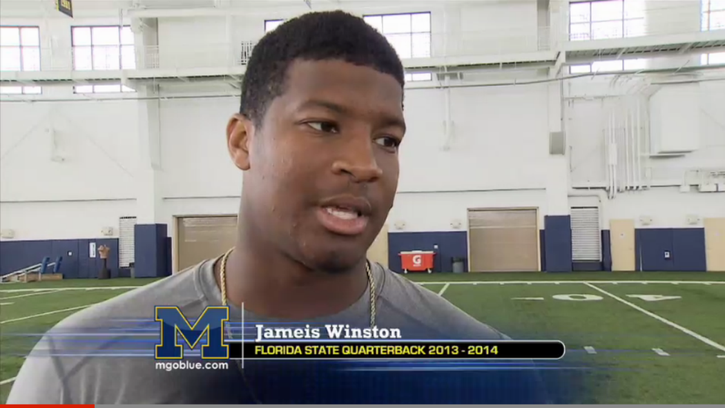 "Jameis Winston on Jim Harbaugh: ""I wish I could have played for him."" http://t.co/A4voJVFte6 http://t.co/1isiNrHOv0"