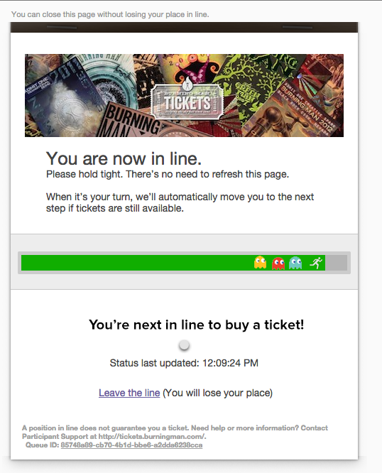 We figured out a hack to getting to the front of the Burning Man ticket line: @burningman http://t.co/qSYcXDIkUF