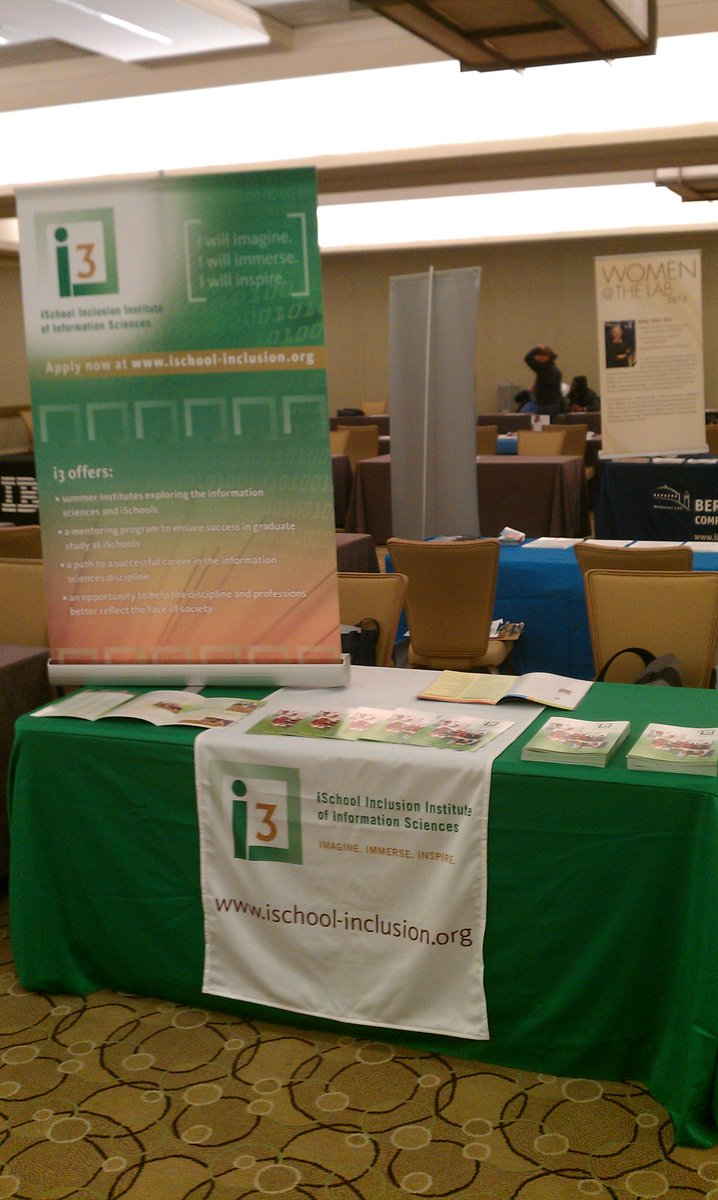 All set up for the #Tapia2015 career/grad fair. Stop by to learn about grad opportunities and scholarships. http://t.co/eZzCgTxUfN