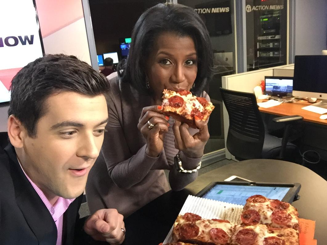 Bacon-wrapped pizza from @littlecaesars on @TheNowDetroit. Bad time for me to give up pizza for Lent. http://t.co/HaGdiP6Rqf