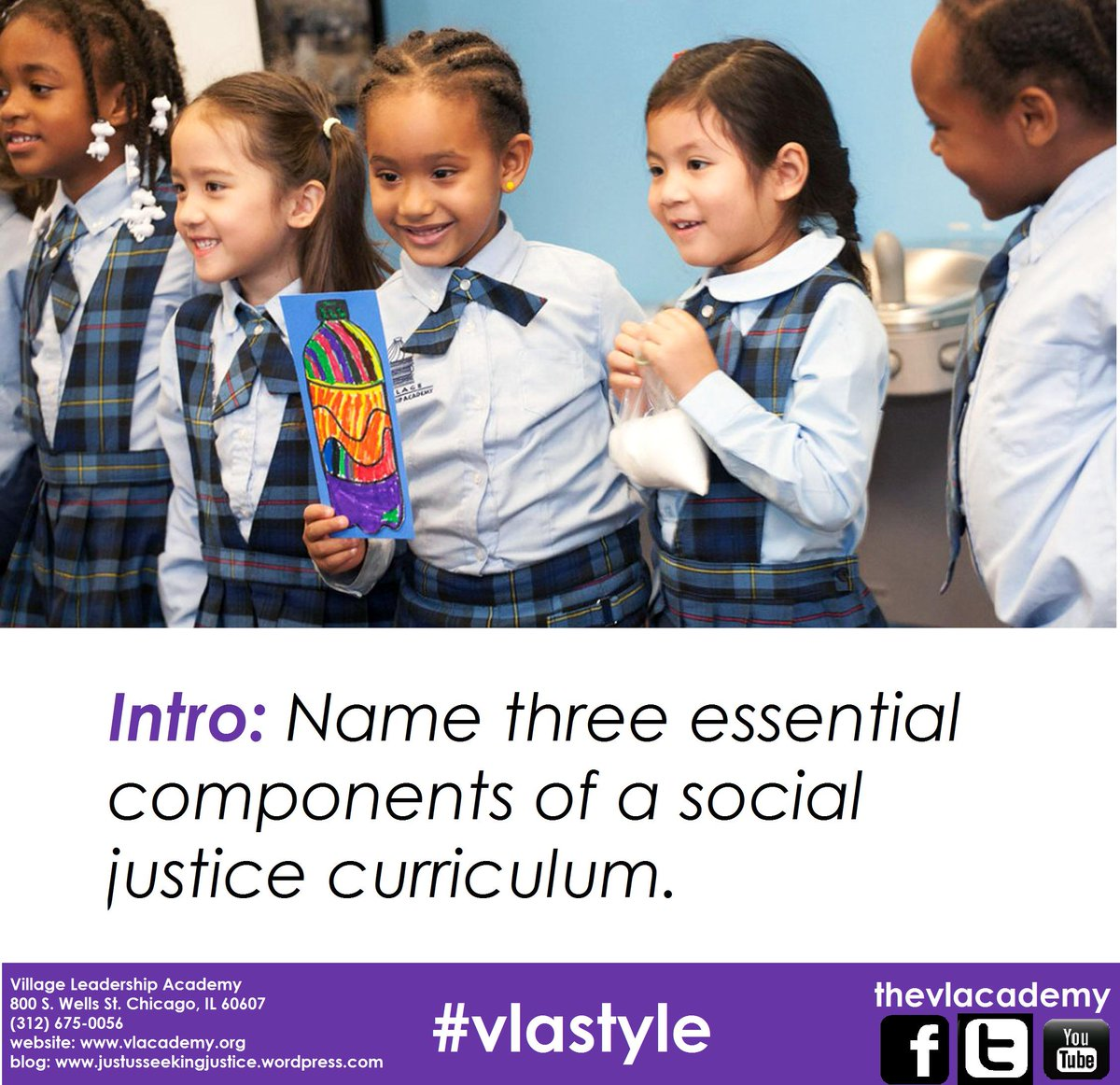 Intro: Name three essential components of a social justice curriculum. #vlastyle http://t.co/sz8GUhqTYP