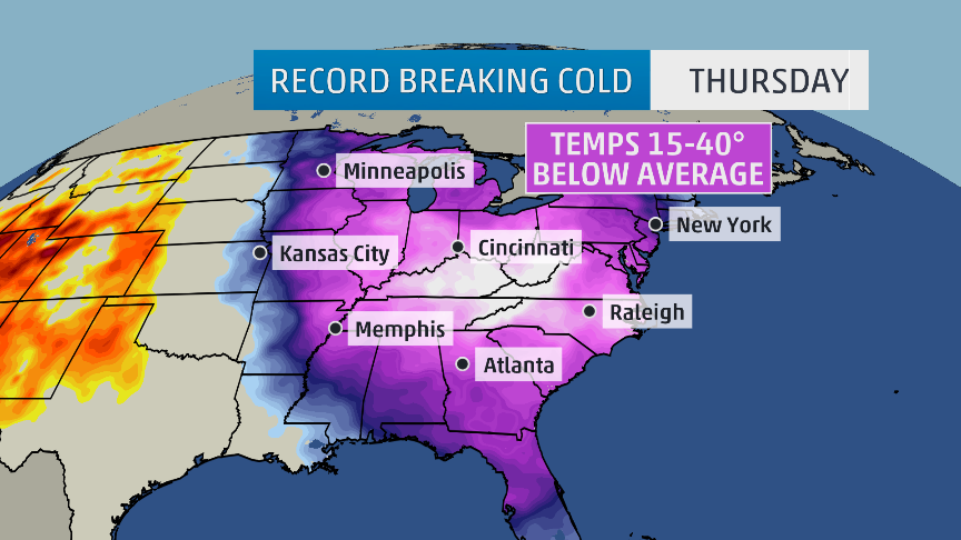 Brrrrr! Many record lows will be SHATTERED the next 2 mornings! I'm with @TWCAlexWallace 6-8pmET @weatherchannel http://t.co/qPnfC5Gplv