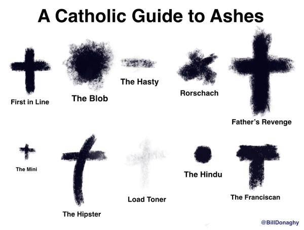 So what best describes the ashes on your forehead? #AshWednesday http://t.co/yluaaEQiiY