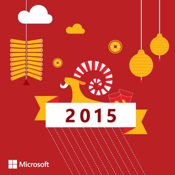 Gong Xi Fa Cai Microsoft Lovers! Semoga tahun ini makin sukses dan banyak mendapat berkah. #MsGongXi http://t.co/GwAMTBCAEx